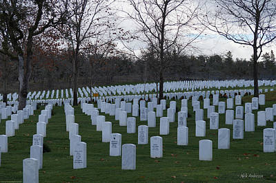 Photograph - Eagle Point National Cemetery In Winter 1 by Mick Anderson