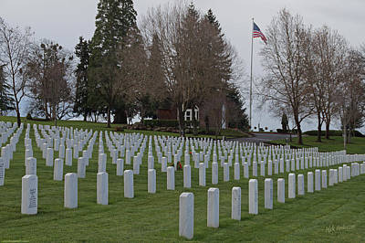 Photograph - Eagle Point National Cemetery In Winter 2 by Mick Anderson