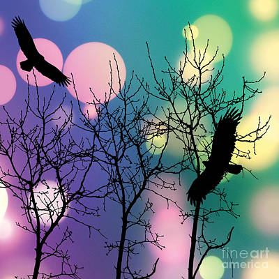 Folk Art Digital Art - Eagle Rebirth Light by Kim Prowse