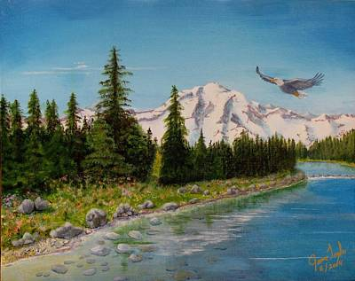 James Taylor Painting - Eagle River by James Taylor