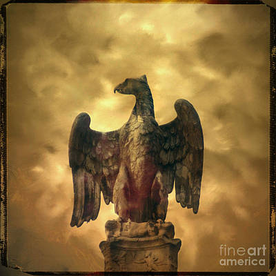 Eagle Sculpture Art Print by Bernard Jaubert