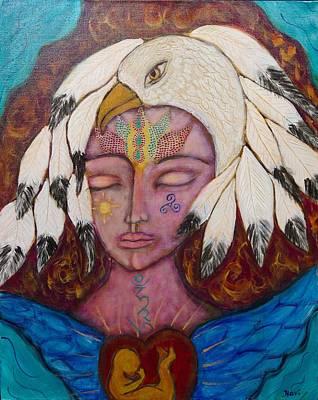 Eagle Shaman Art Print by Havi Mandell