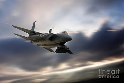 F15 Wall Art - Digital Art - Eagle Strafe by J Biggadike