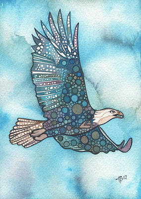 Bird Watercolor Painting - Eagle by Tamara Phillips