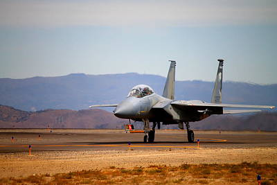F15 Wall Art - Photograph - Eagle Taxi by Saya Studios