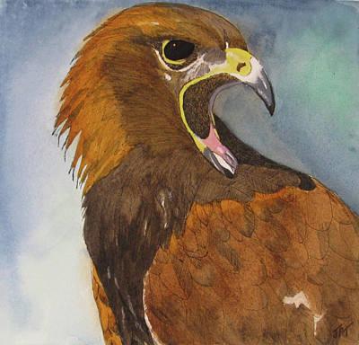 Painting - Eagle Totem by Jini Patel Thompson - JPT