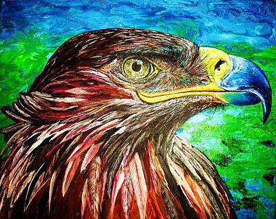 Art Print featuring the painting Eagle by Viktor Lazarev
