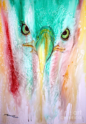 Eagle Vision Art Print by Tracy Rose Moyers