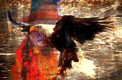 Digital Art - Eagle Warrior by Carrie OBrien Sibley