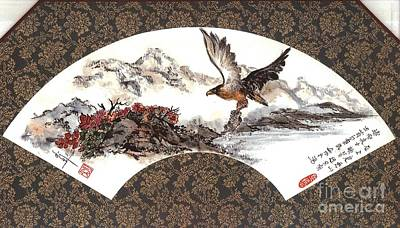 Linda Smith Painting - Eagle With Fish by Linda Smith