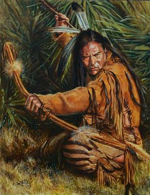 Cherokee Painting - Eagle Wolf by James Loveless