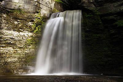 Montour Photograph - Eagles Cliff Waterfalls by David Simons