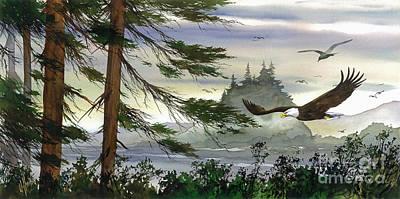 Eagles Flight Art Print