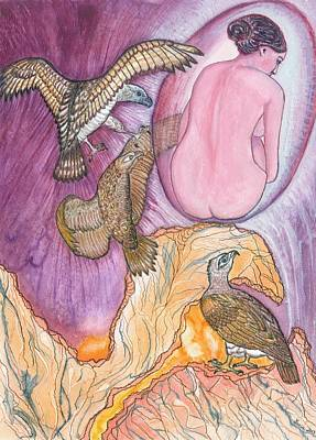 Eagles Art Print by Lucia Conrad