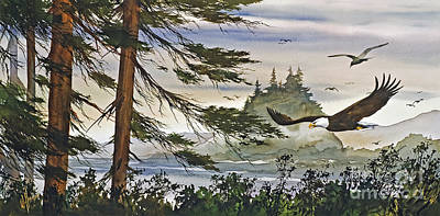 San Juan Painting - Eagles Majestic Flight by James Williamson