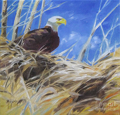 Golden Eagle Painting - Eagles Nest by Mary Hubley