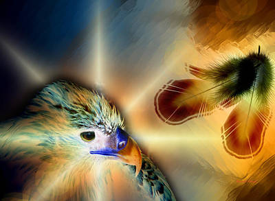 Digital Painting - Eagles Song 2 by The Feathered Lady
