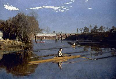 Painting - Eakins Max Schmitt, 1871 by Granger