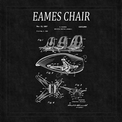 Eames Photograph - Eames Chair Patent 4 by Andrew Fare