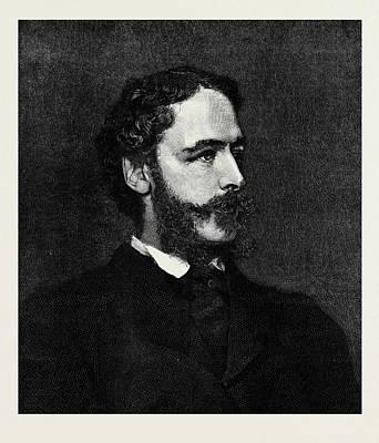 Lord Drawing - Earl Cowper K.g. The New Lord Lieutenant Of Ireland 1880 by Irish School