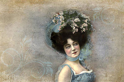 Photograph - Early 1900s Actress by Peggy Collins