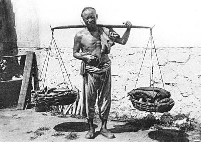 Topless Photograph - Early 20th Century Street Hawker by Collection Abecasis