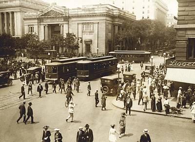 Washington Dc Street Scene Photograph - Early 20th Century Street Scene, Usa by Science Photo Library