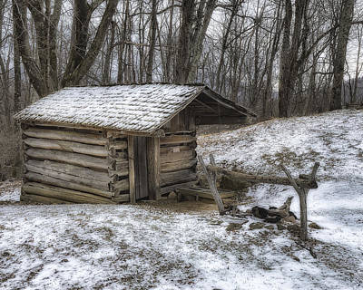 Photograph - Early American Springhouse by Steve Hurt