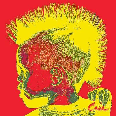 Feile Case Digital Art - Early Ancestry Micro Me Portrait 11 by Feile Case