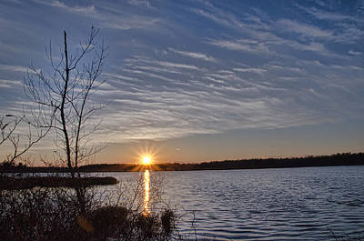Photograph - Early April Sunset by Beth Sawickie
