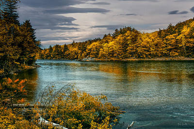 Early Autumn Along The Androscoggin River Art Print by Bob Orsillo