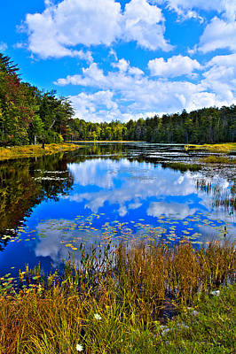 Photograph - Early Autumn At Fly Pond - Old Forge Ny by David Patterson