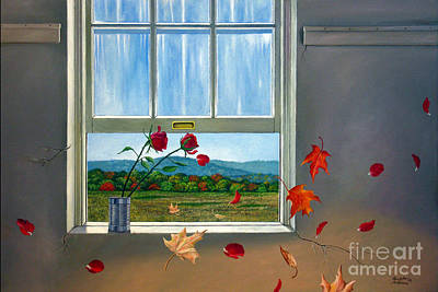 Painting - Early Autumn Breeze by Christopher Shellhammer