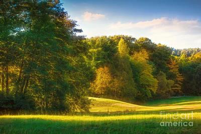Early Autumn Photograph - Early Autumn Glow by Lutz Baar