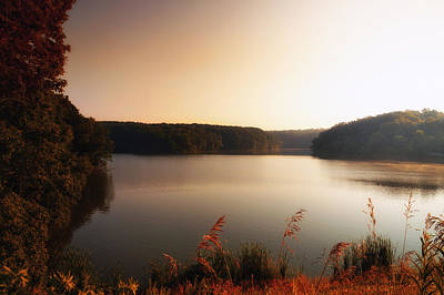 Central Il Photograph - Early Autumn On The Lake by Thomas Woolworth