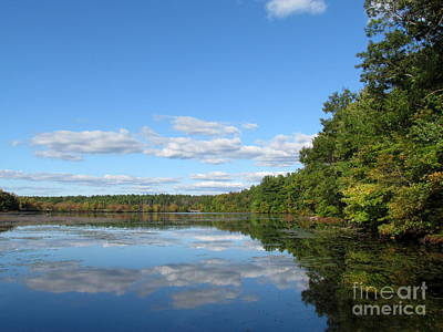 Early Autumn Scituate Reservoir Art Print