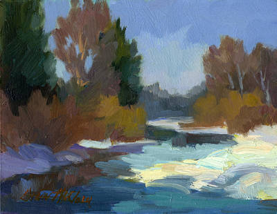 Painting - Early Autumn Snow by Diane McClary