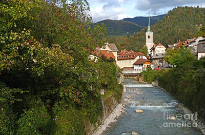 Photograph - Early Autumn - Trzic - Slovenia by Phil Banks
