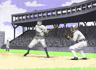 Detroit Tigers Art Digital Art - Early Baseball by Steve Dininno