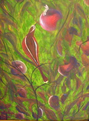 Bird And Worm Painting - Early Bird Catches The Worm by Kalyn Davis