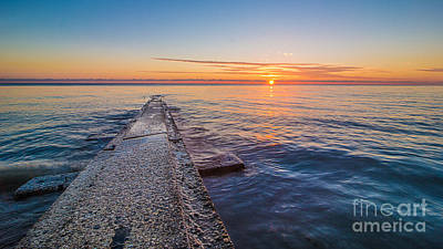 Early Breakwater Sunrise Art Print