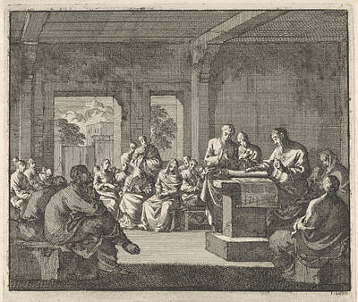 Early Christian Community Listening To A Reading Art Print