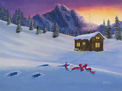 Painting - Early Christmas Morn by Jack Malloch