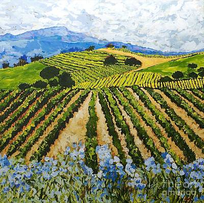 Flower Fields Painting - Early Crop by Allan P Friedlander