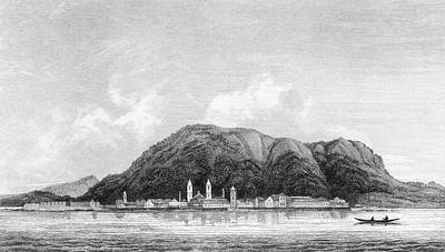 Hong Kong Drawing - Early Days Of The Colony ; Victoria by Mary Evans Picture Library