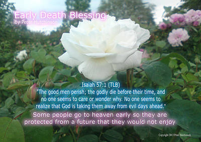 Hamptons Digital Art - Early Death Blessing by Bible Verse Pictures