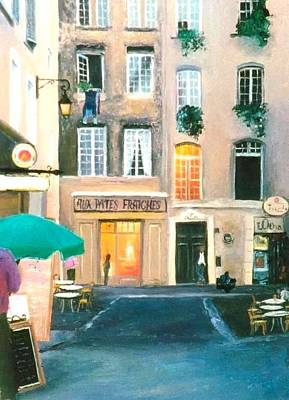 Painting - Early Evening In Paris by Jan Matson