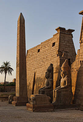Early Evening Light At Karnak Temple Art Print by Linda Phelps