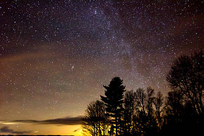 Photograph - Early Evening Milky Way by Steven Valkenberg