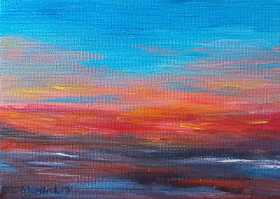 Painting - Early Evening Sky by Martin Blakeley